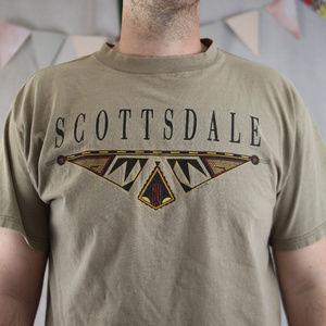 Vintage Scottsdale XL 100% cotton tee VTG Tultex